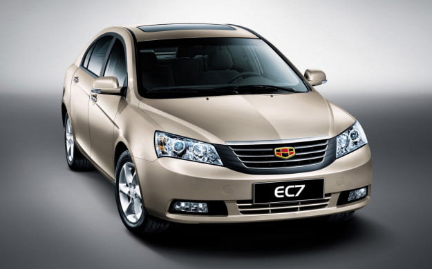 Emgrand EC7 front three quarter
