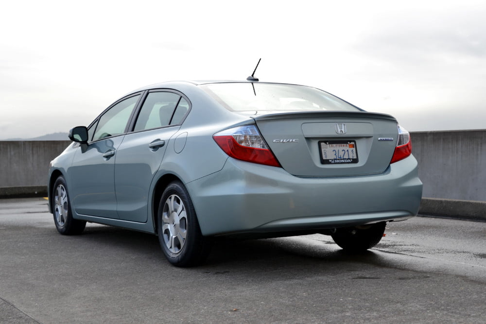 2012 Honda Civic Hybrid review back rear 4 door car review