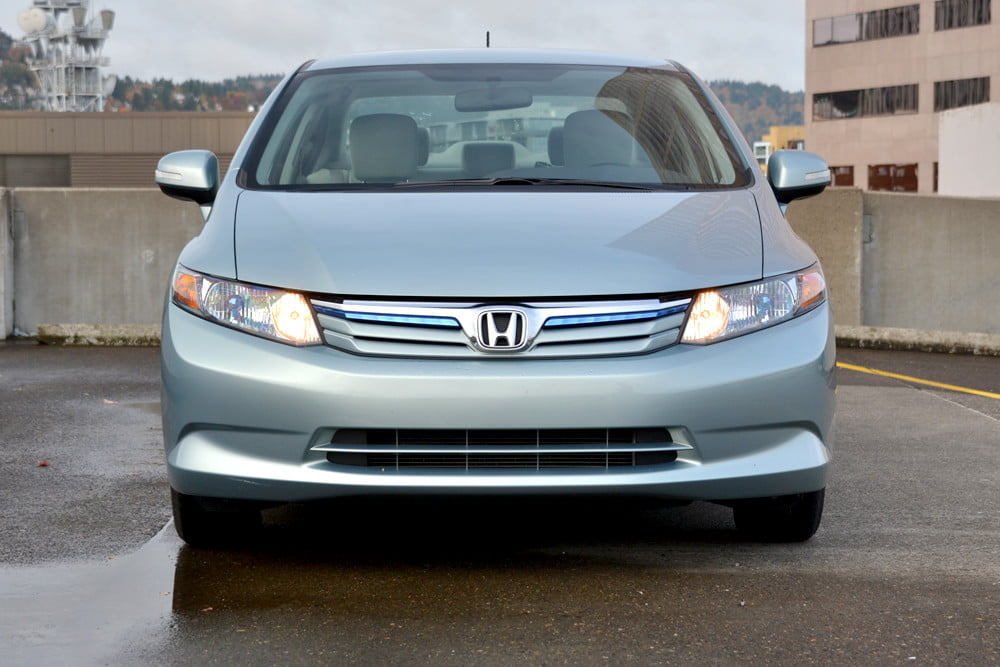 2012 Honda Civic Hybrid review front 4 door car review
