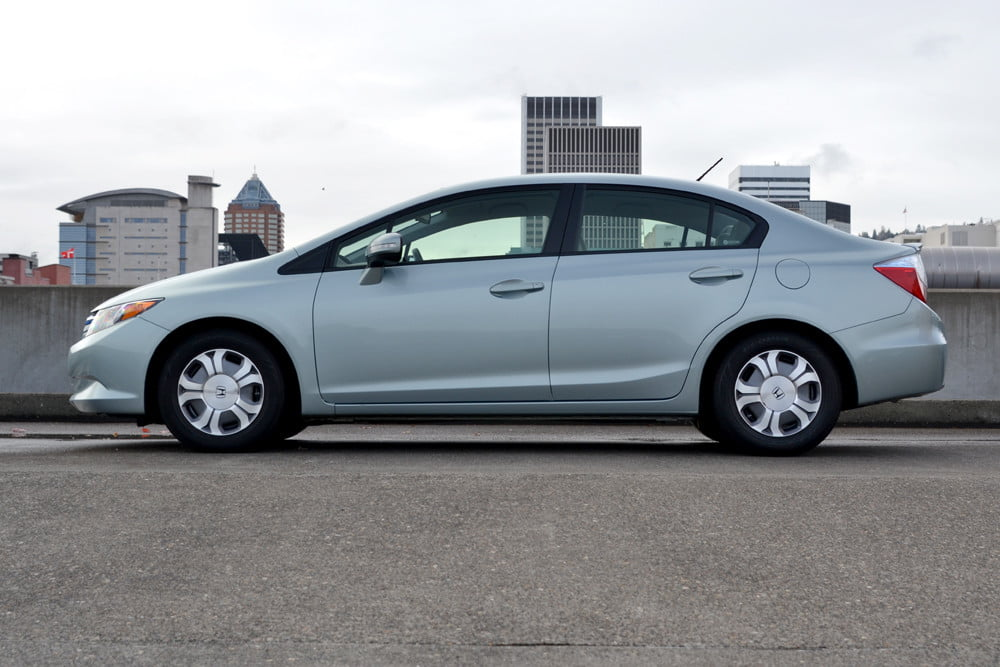 2012 Honda Civic Hybrid review left side 4 door car review