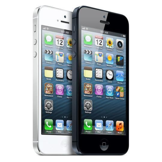 iPhone 5 white and black
