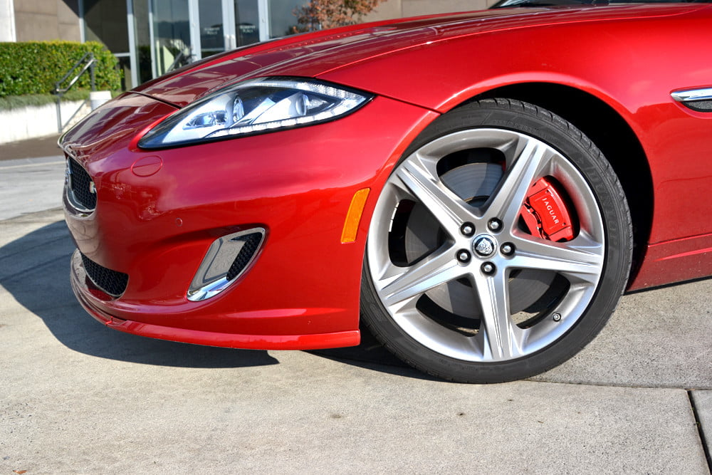 2012 Jaguar XKR review front left wheel front exterior