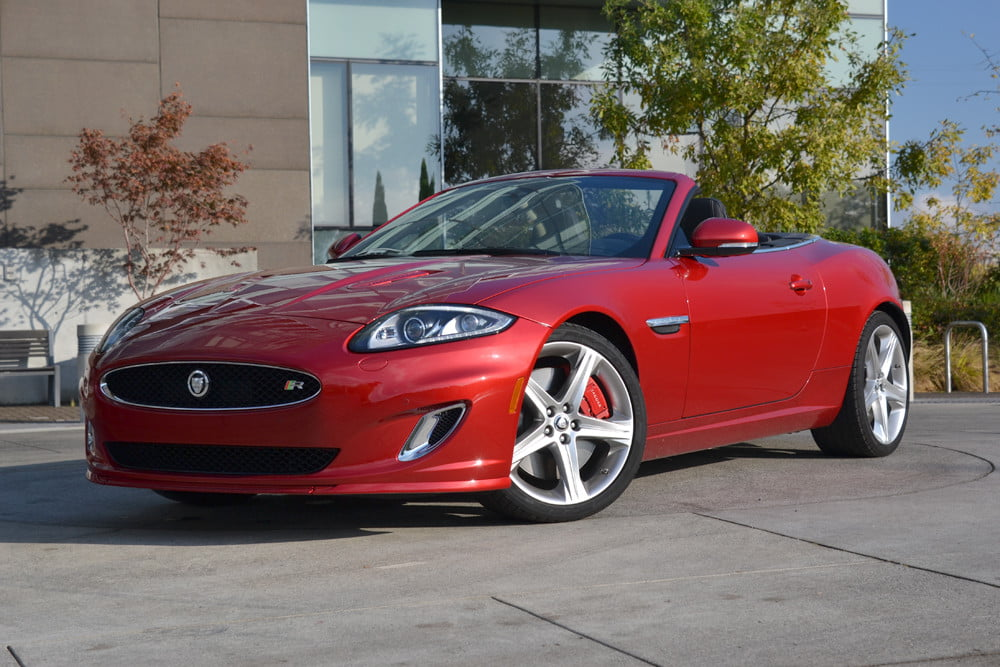 2012 Jaguar XKR review front side top down exterior