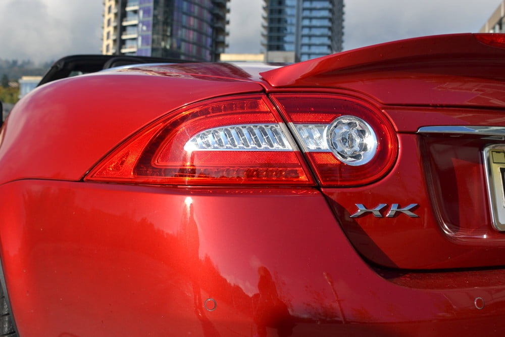 2012 Jaguar XKR review left tail light exterior