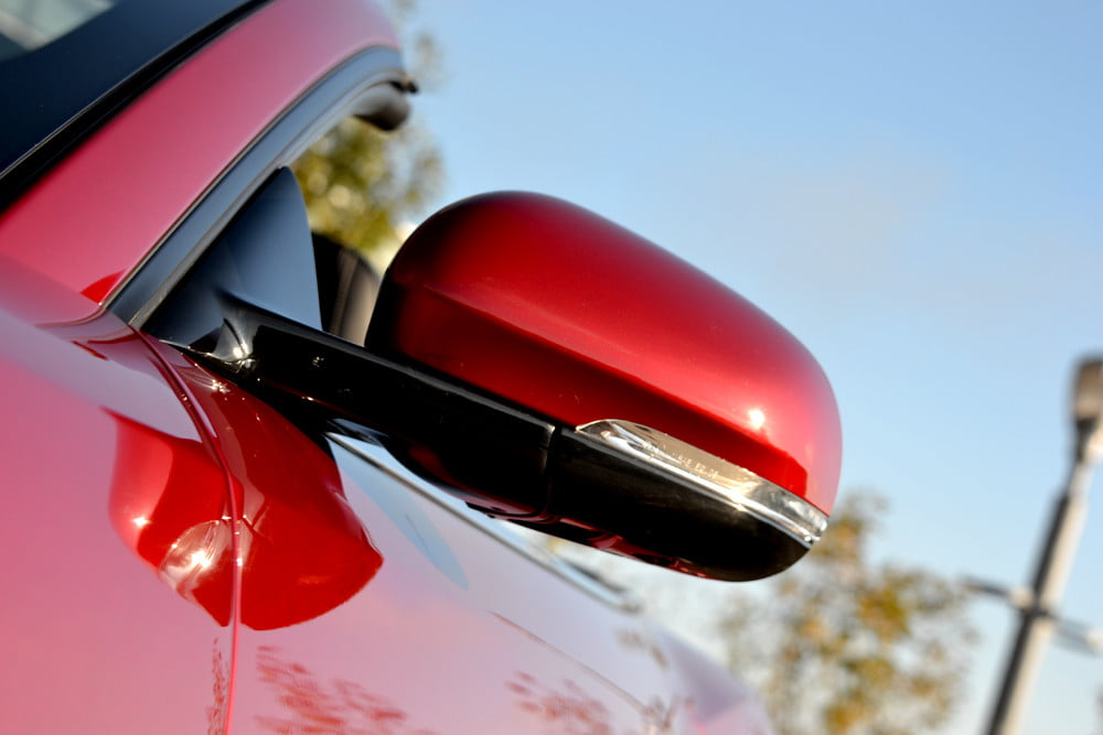 2012 Jaguar XKR review left wingmirror exterior
