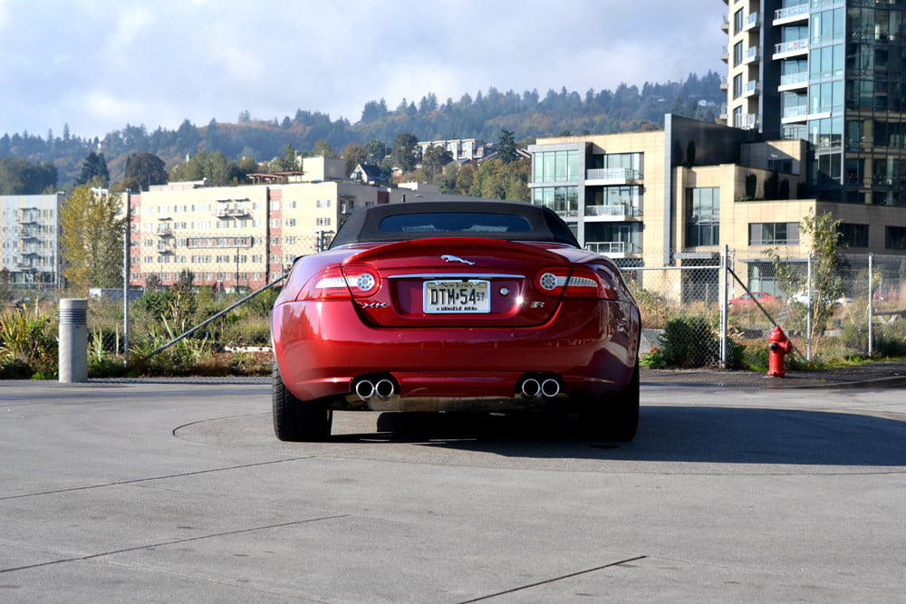 2012 Jaguar XKR review top up back exterior