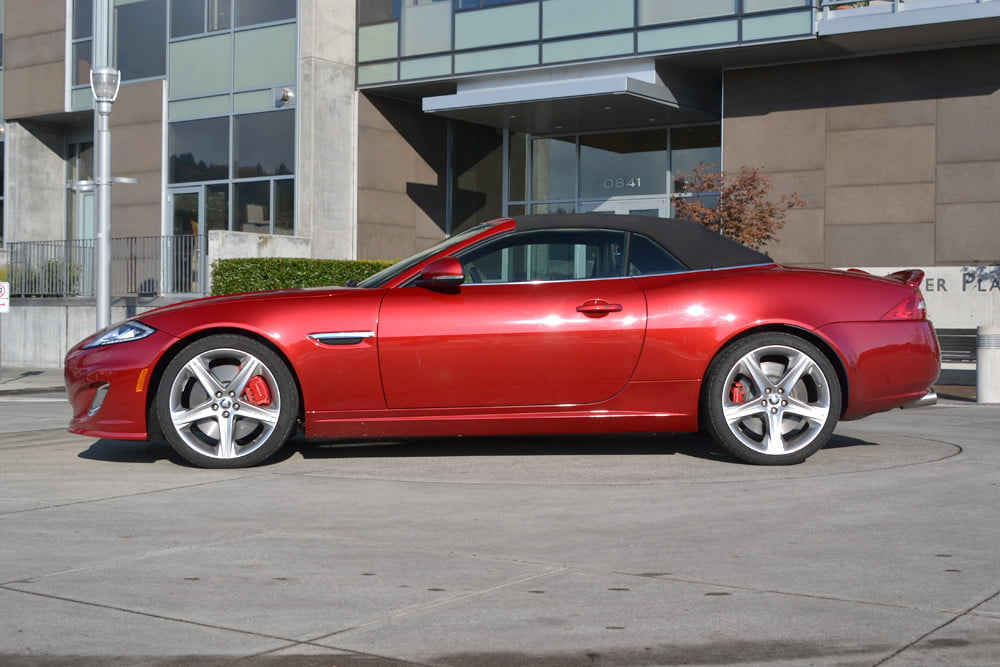 2012 Jaguar XKR review top up side exterior