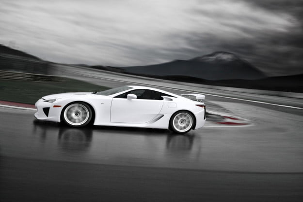 2012 Lexus LFA- ainy mountain