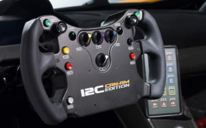 McLaren MP4-12C Can-Am Edition steering wheel