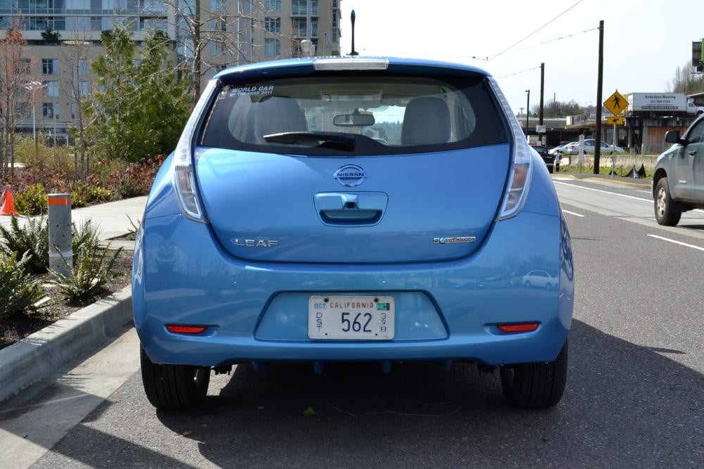 2012 Nissan Leaf review exterior rear