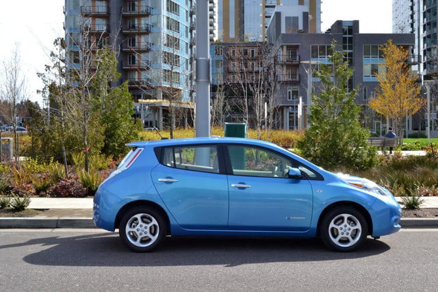 man arrested stealing electricity charge electric car  nissan leaf review exterior side