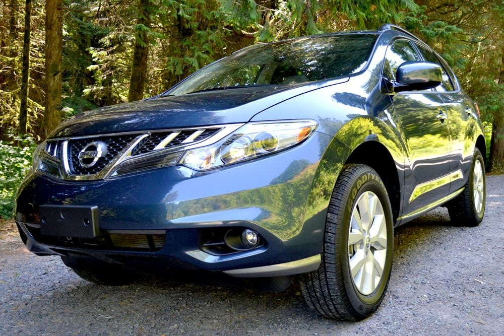 2012 Nissan Murano Crossover Review exterior front side angle car review