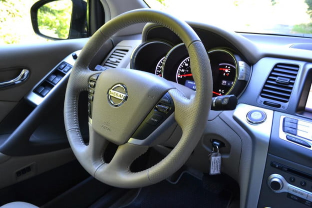 2012 Nissan Murano Crossover Review interior steering wheel car review