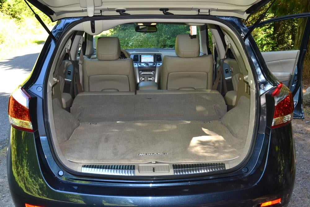 2012 Nissan Murano Crossover Review interior trunk car review