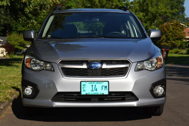 2012 subaru impreza front 4 door car review