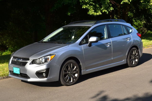 2012 subaru impreza front right side 4 door car