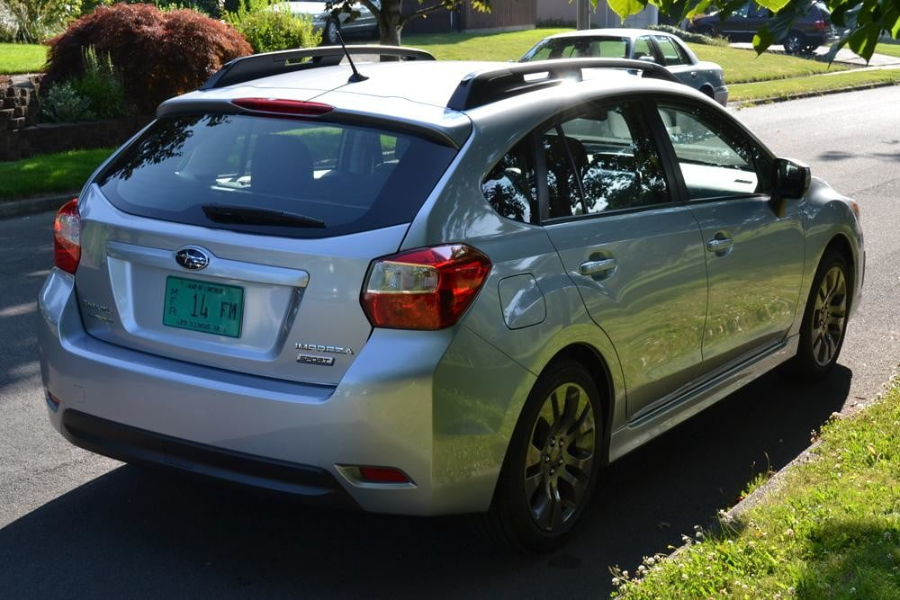 2012 subaru impreza rear angle 4 door car