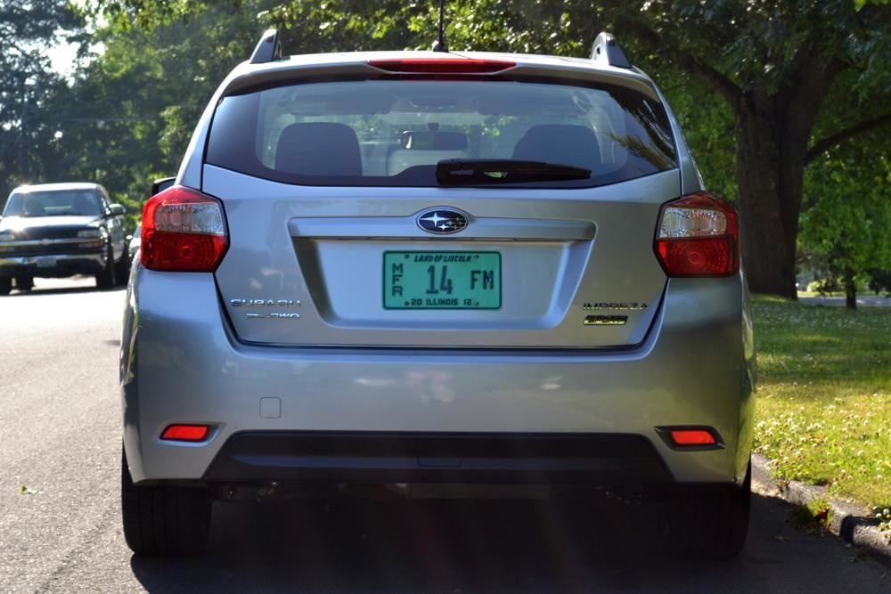 2012 subaru impreza rear 4 door car review