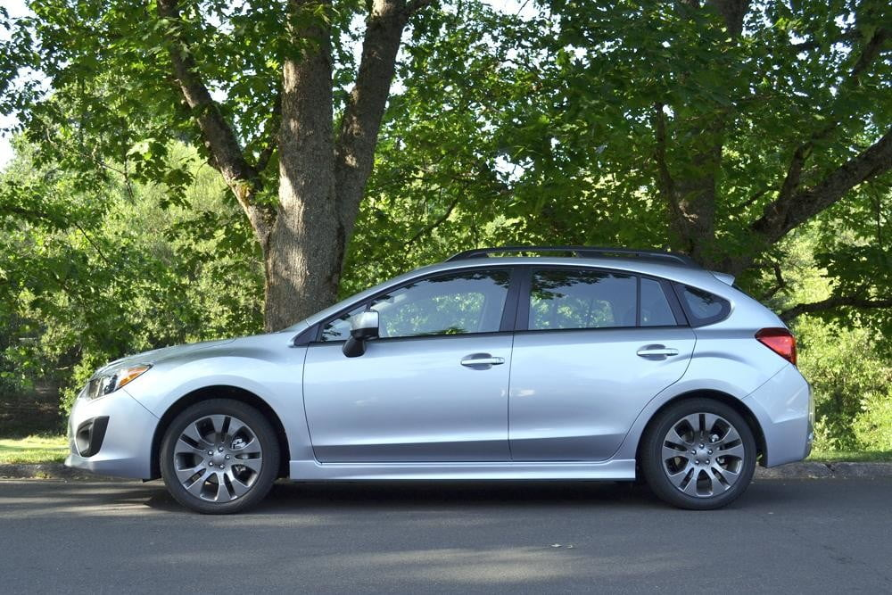 2012 subaru impreza side 4 door car review
