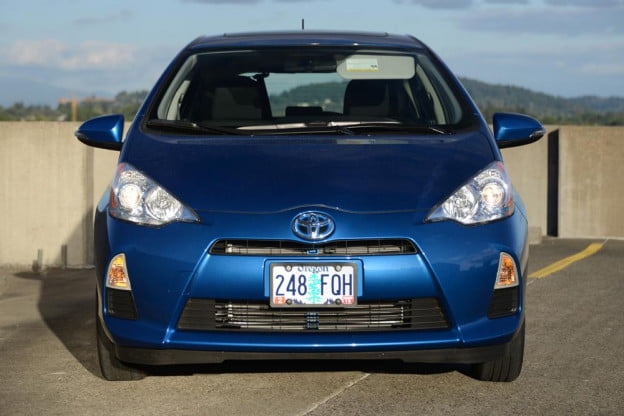 2012 Toyota Prius C Review front hybrid car