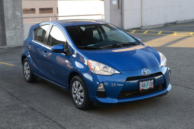 2012 Toyota Prius C Review front angle hybrid car