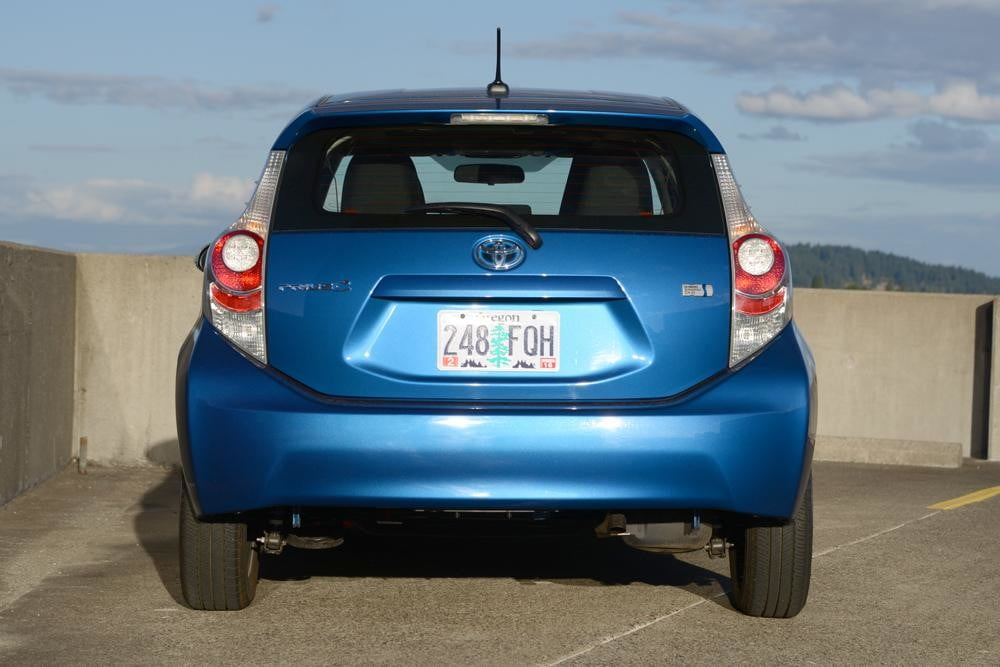 2012 Toyota Prius C Review rear hybrid car