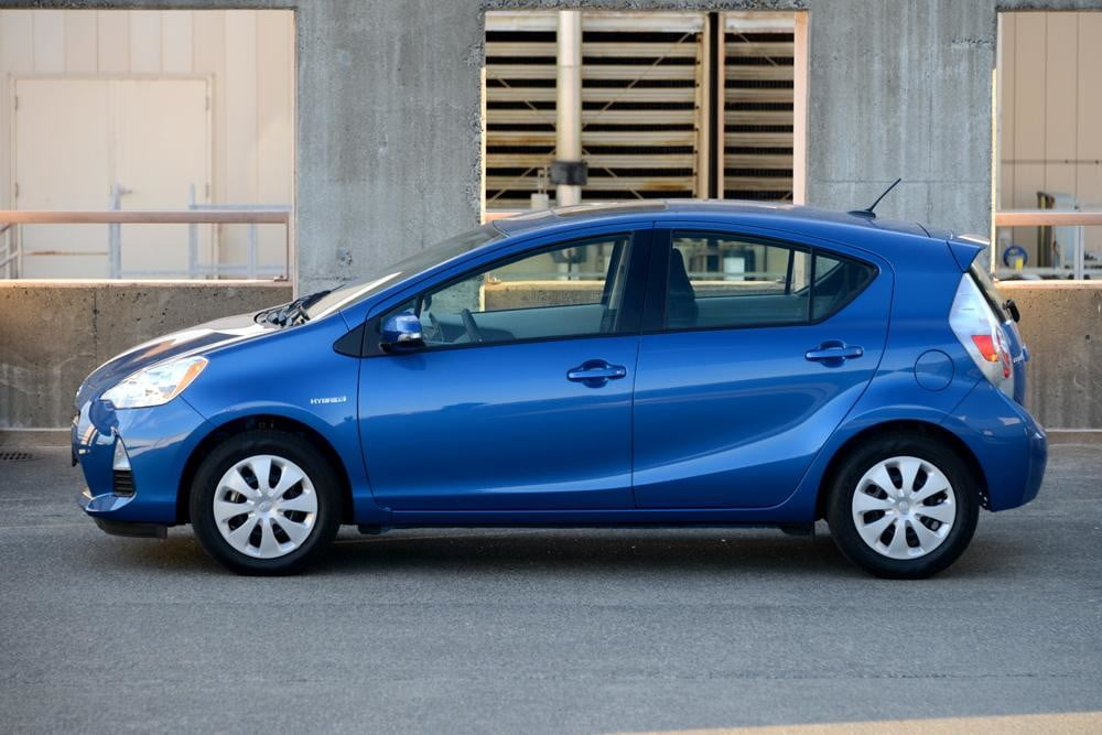 2012 Toyota Prius C Review side hybrid car review