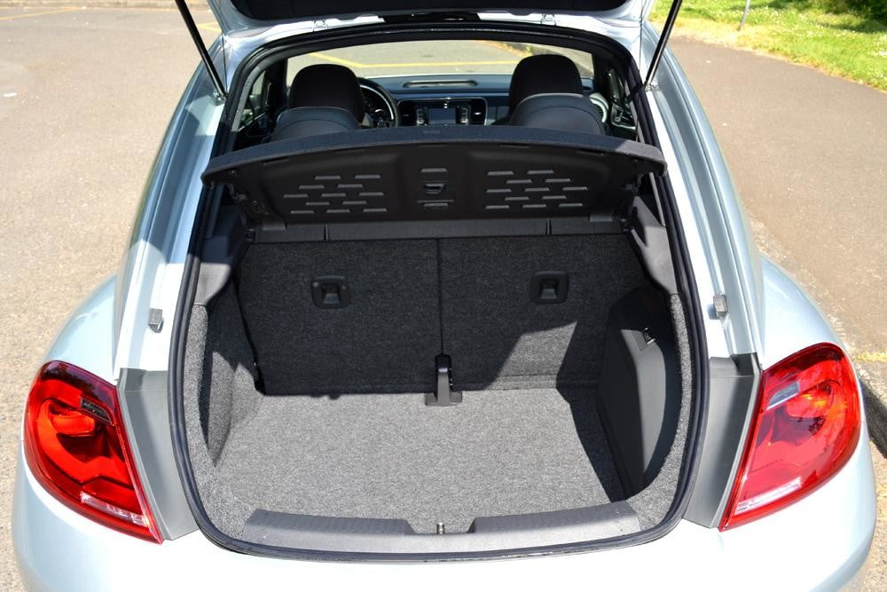 2012 Volkswagen Beetle review trunk