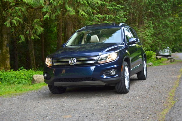 2012 Volkswagen Tiguan review exterior front left vw car outside