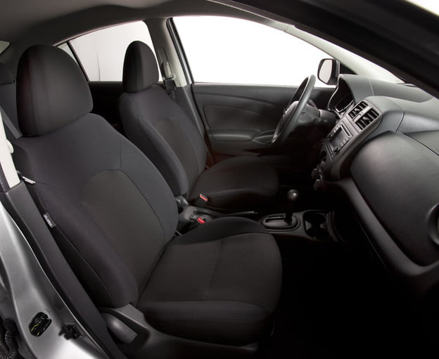 2012 nissan versan review subcompact car interior front