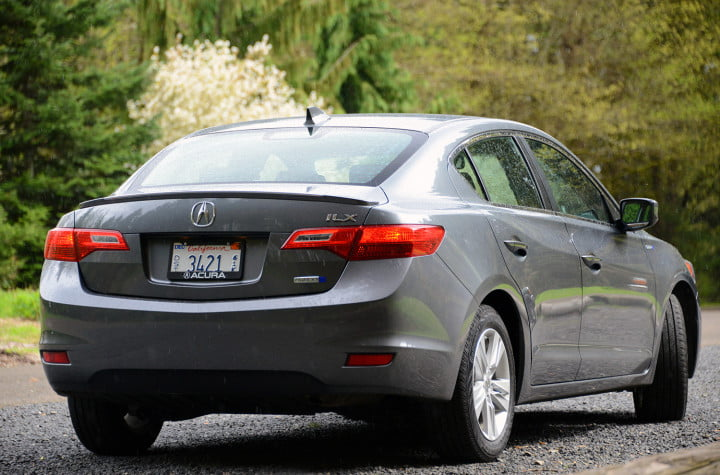 acura ilx hybrid review exterior back right
