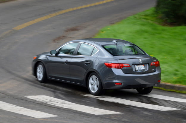 2013 acura ilx hybrid exterior rear left motion