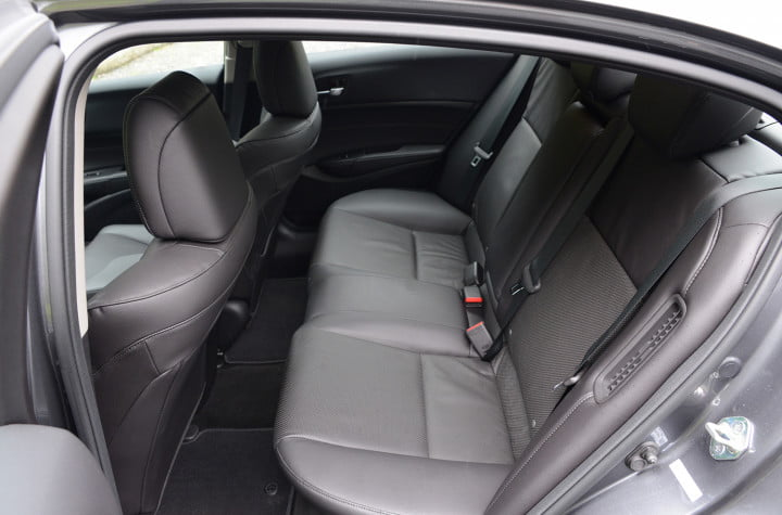 acura ilx hybrid review interior back
