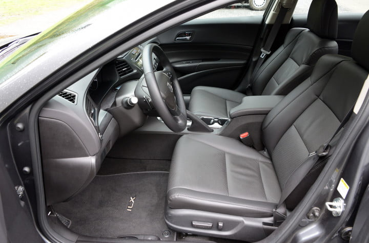 acura ilx hybrid review interior front