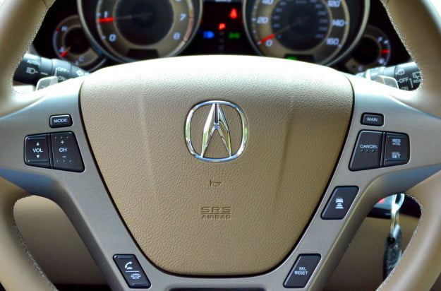 2013 acura mdx advance navigation system steering wheel_mounted voice activated audio control