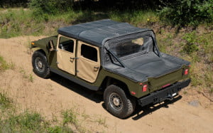 AM General Humvee C-Series kit rear overhead view