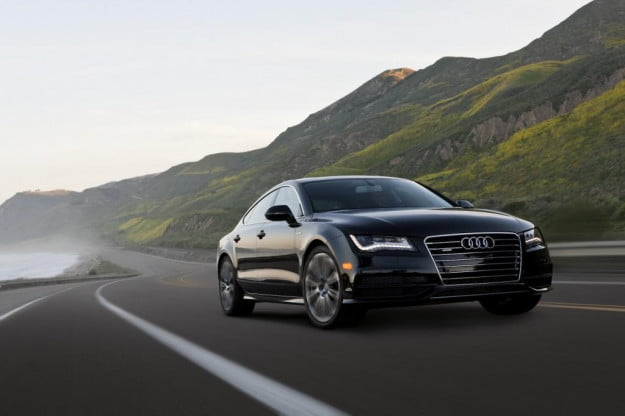 Audi A7 emerging from the mist