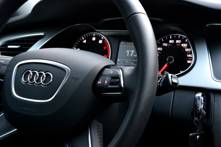 audi allroad review steering console