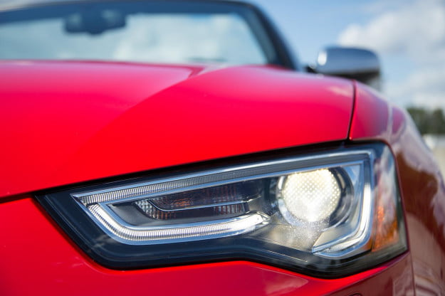 2014 Audi RS 5 Cabriolet head light macro