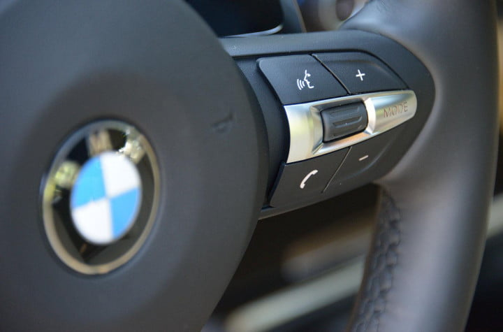 bmw i review m sport interior steering wheel controls