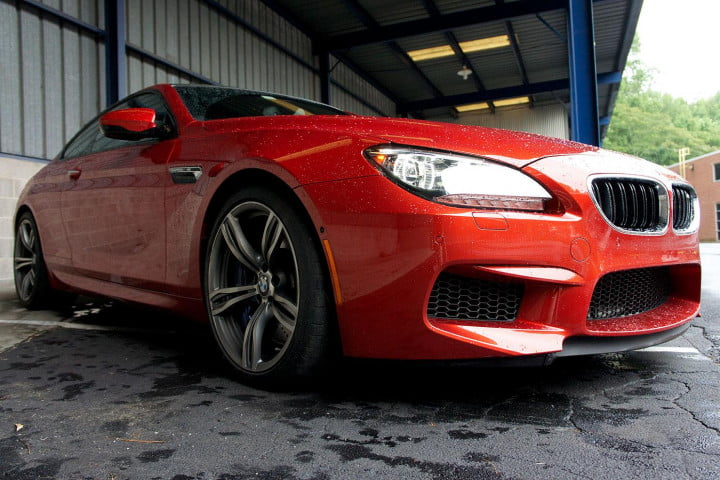 bmw m review front left angle