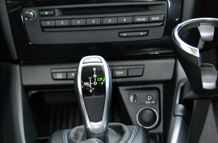bmw x review gear shift