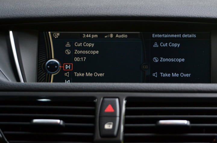 bmw x review infotainment cd player