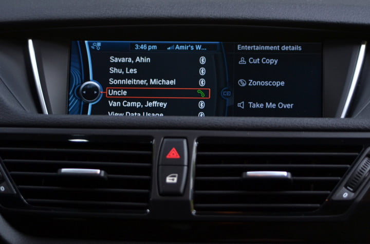 bmw x review infotainment hands free dialing