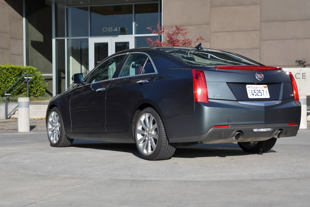 2013 Cadillac ATS review back right angle