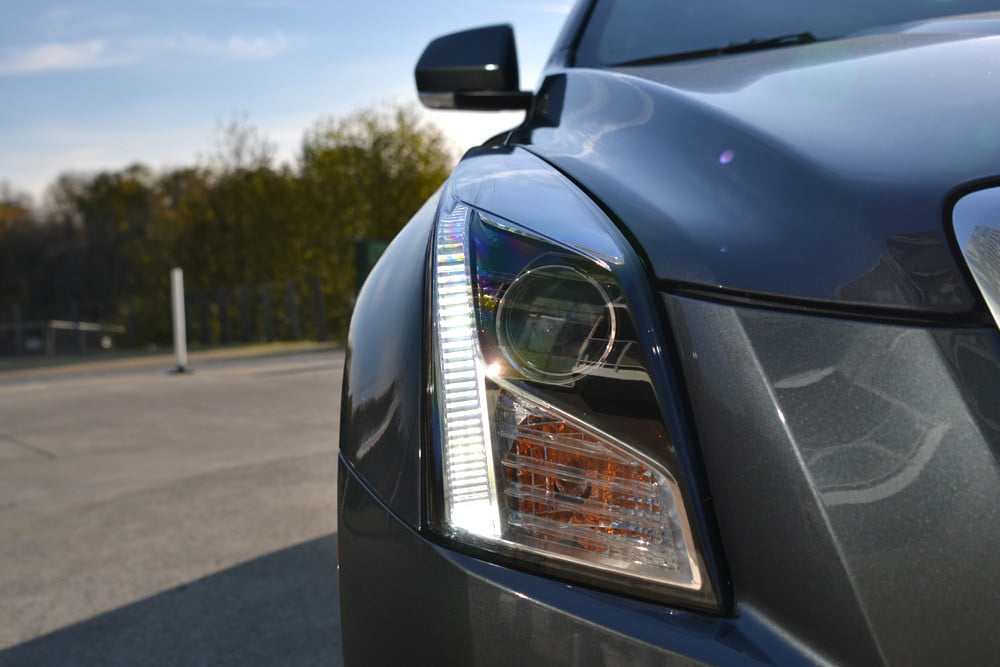 2013 Cadillac ATS review left headlight