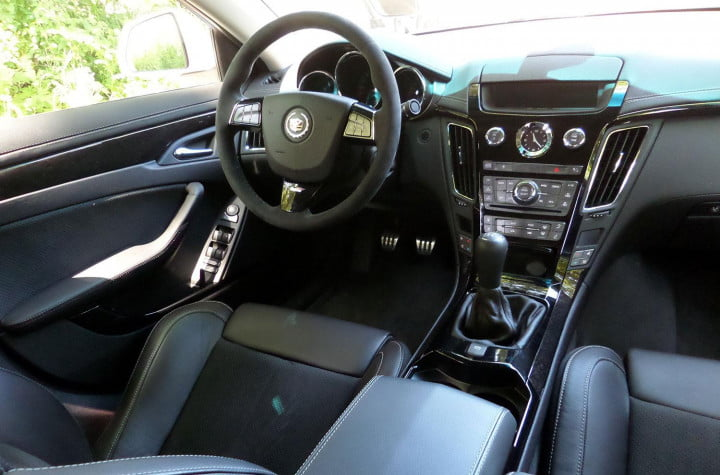 cadillac cts v sedan review interior front back view