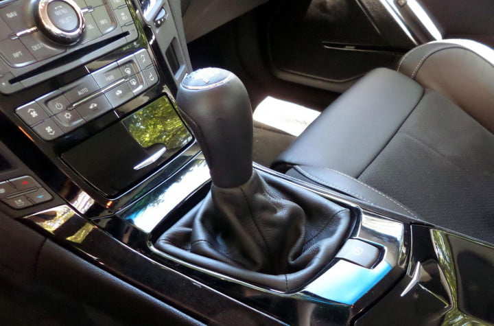 cadillac cts v sedan review interior shifter