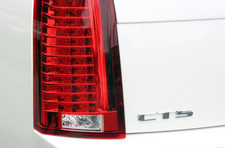 cadillac cts v sedan review rear taillight macro