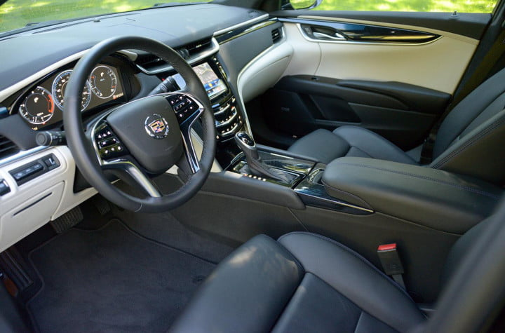 cadillac xts review interior front driver side